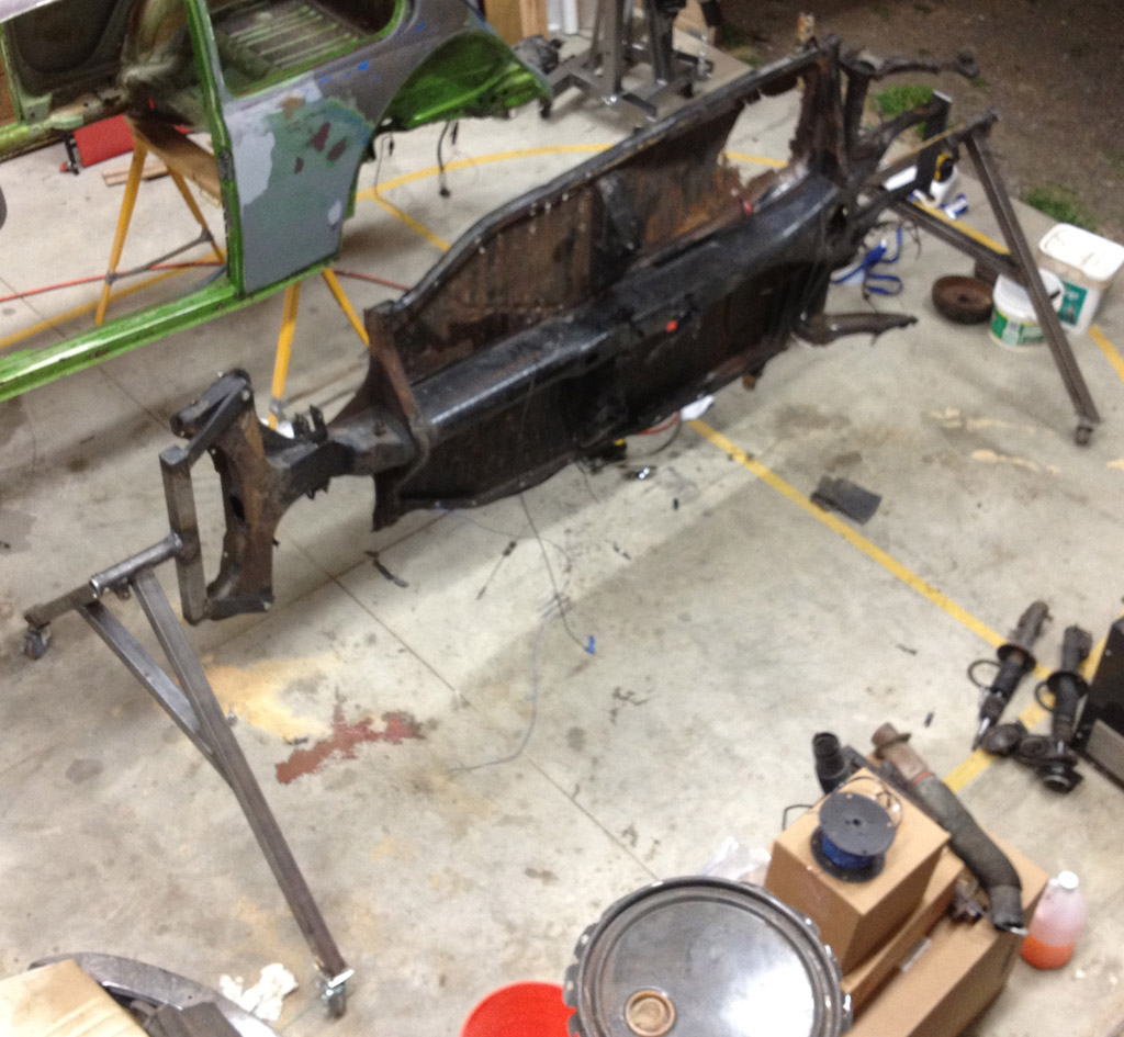Beetle late model super 1968 up view for 1974 super beetle floor pans